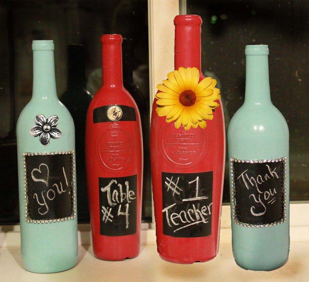 Decorative Painted Wine Bottle Craft Christmas Wine Bottle Crafts Diy Diy Bottle Crafts Wine Bottle Diy Crafts