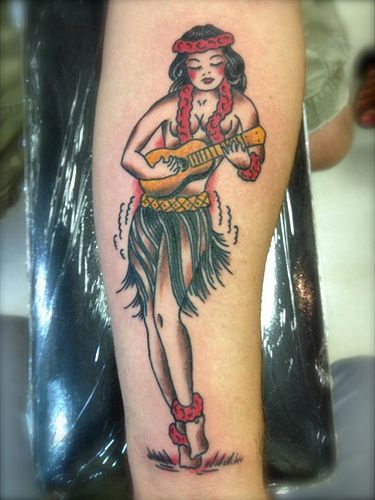 5c1731178 Sailor Jerry Rum Hula Girl Tattoo by KeelHauled Mike of Black Anchor ...
