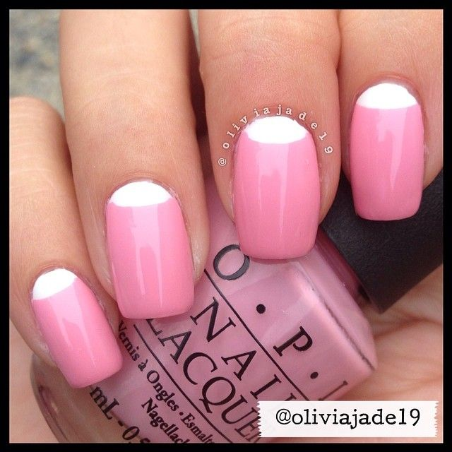 OPI Alpine Snow and OPI Pink Friday