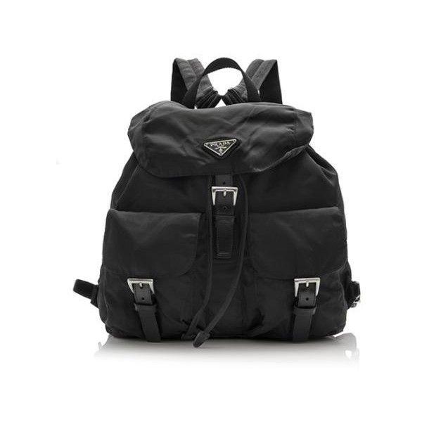 62975534ecc7 Pre-Owned Prada Vela Sport Backpack ($450) ❤ liked on Polyvore featuring  bags, backpacks, black, drawstring sports bag, sport bag, nylon backpack,  ...
