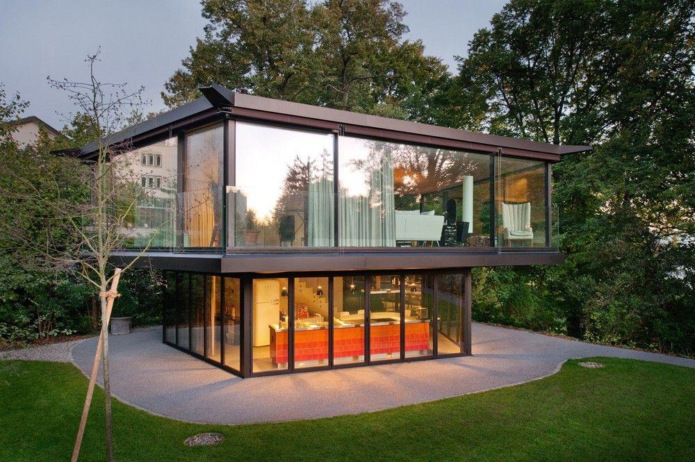 Pavillon de jardin à Zurich par Oliv Brunner Volk Architekten ...