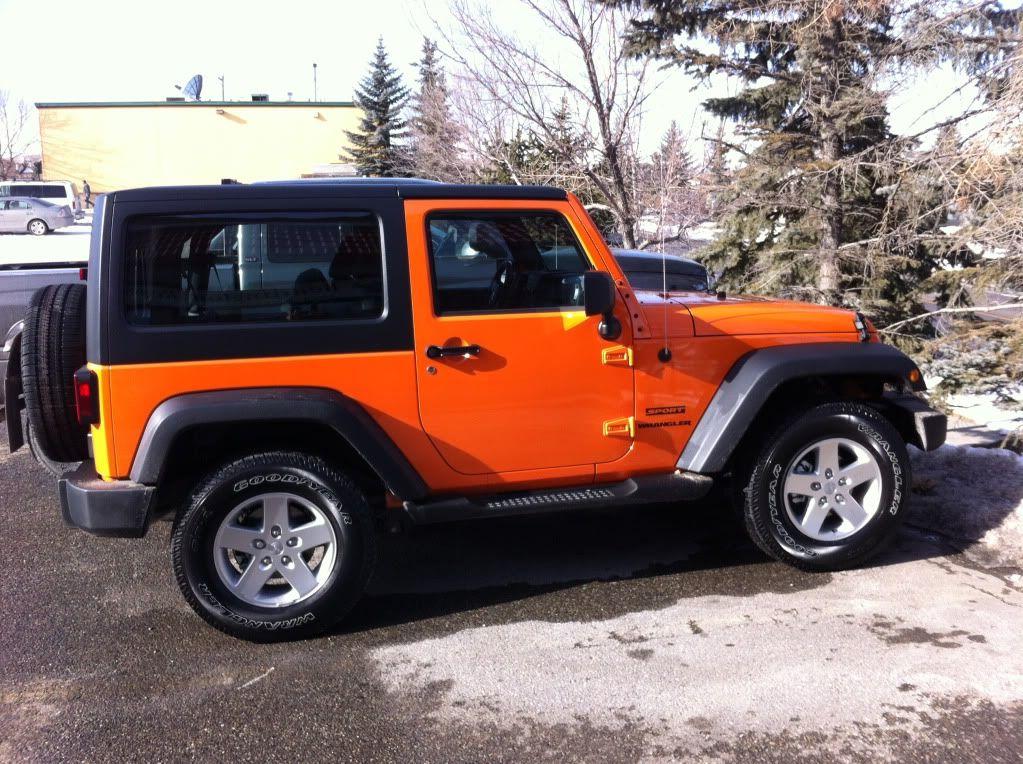 My New Orange Crush Sport Jeep Wrangler Forum Orange Jeep