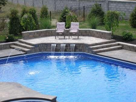 sheer water wall Sheer Descent Water Feature Home Design Ideas