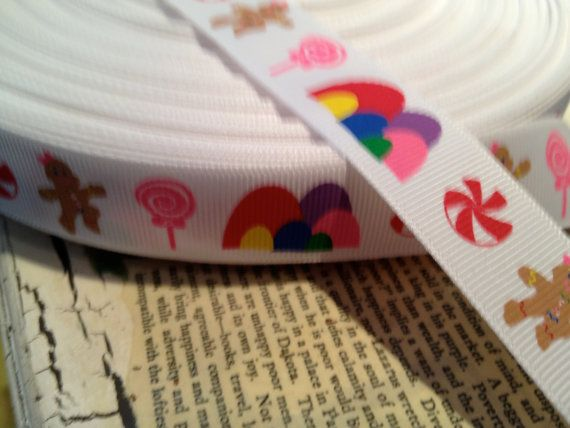 Candy Land Themed Grosgrain Ribbon bows and crafts Just by khalinz, $1.25
