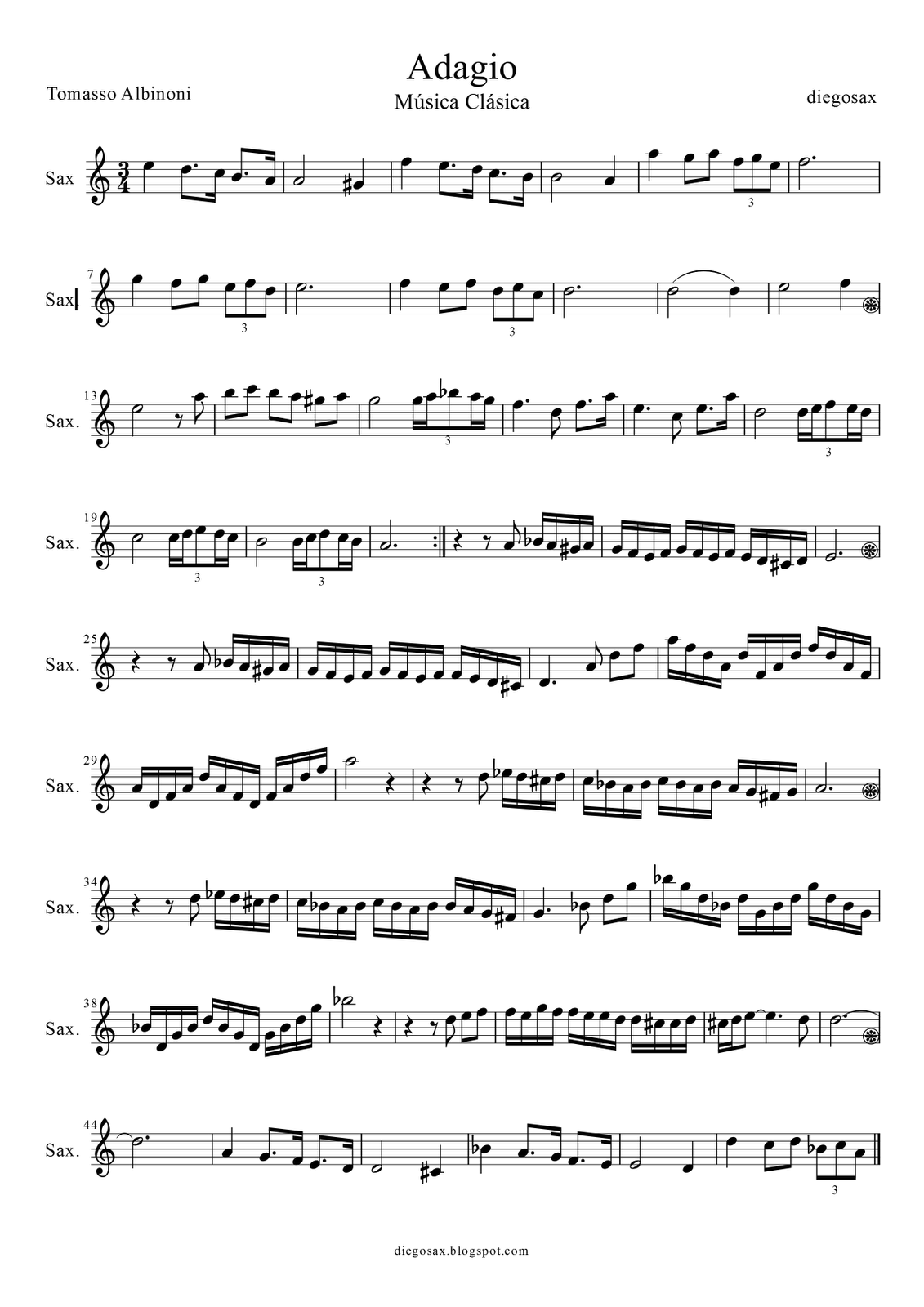 Adagio+Hoja+1+Saxof%C3%B3n-1.png (1131×1600) | Kotta | Pinterest