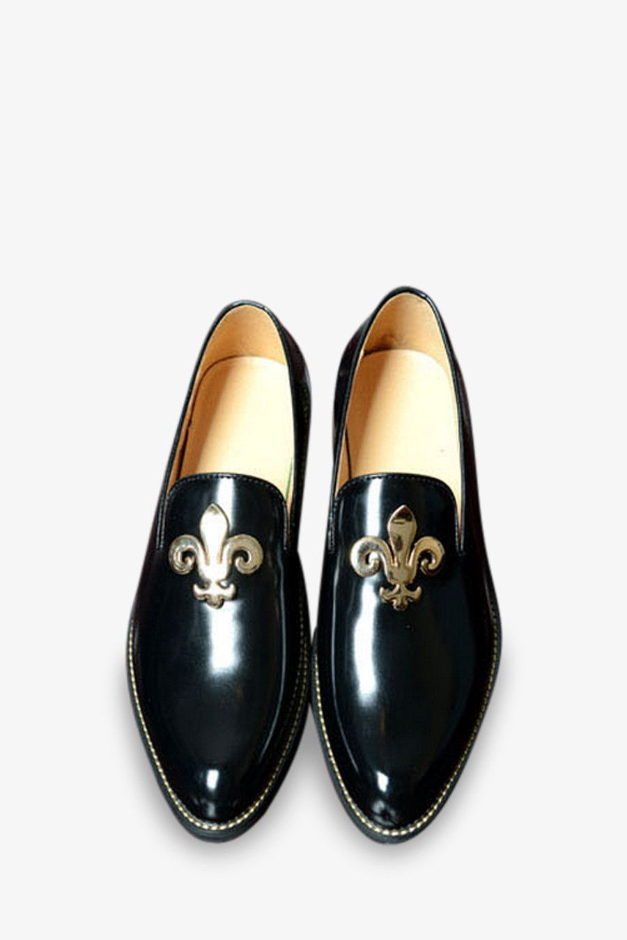8cc2e83298e Patent Leather Loafers In Black in 2019