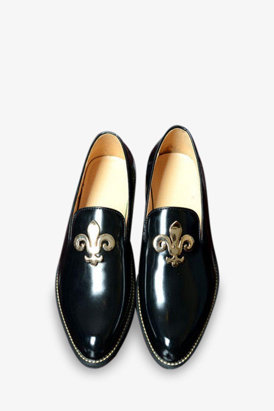 8cc2e83298e Patent Leather Loafers In Black in 2019