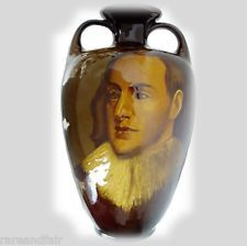 Roseville Royal Rozane Dark large vase w portrait