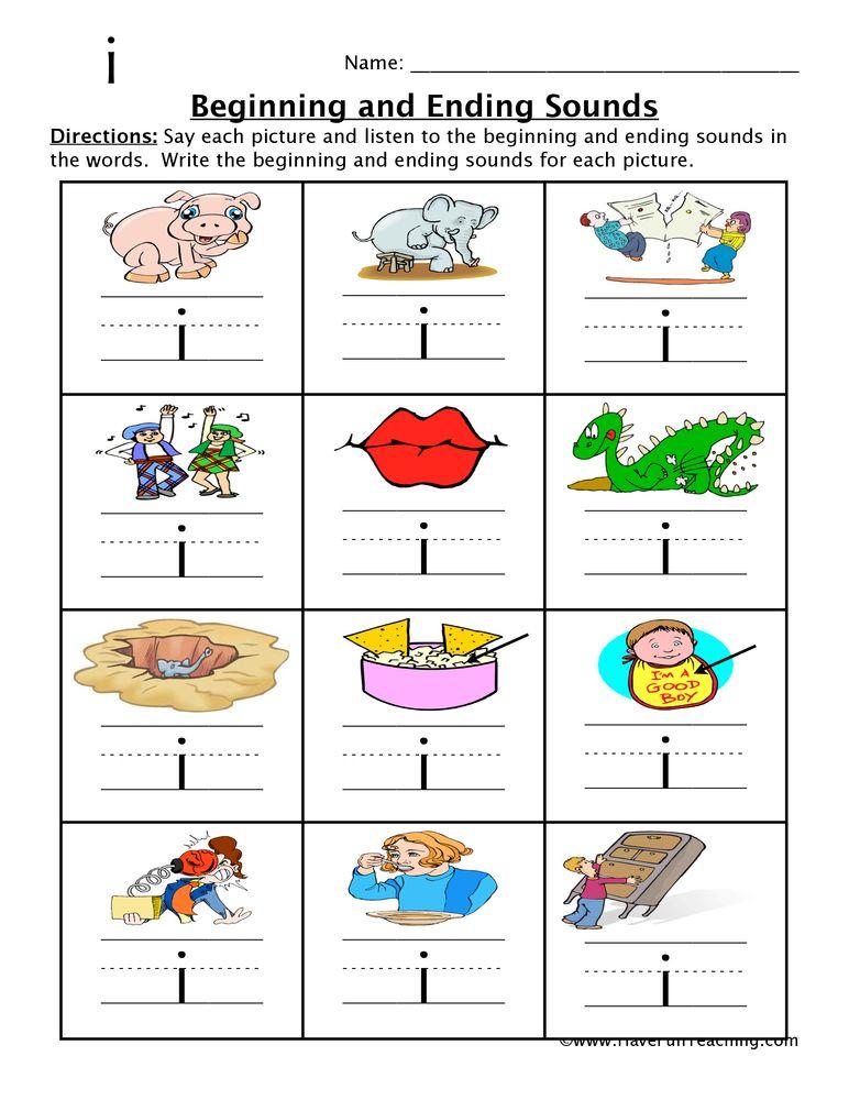 Image Result For Beginning Middle End Sounds Kindergarten Worksheets