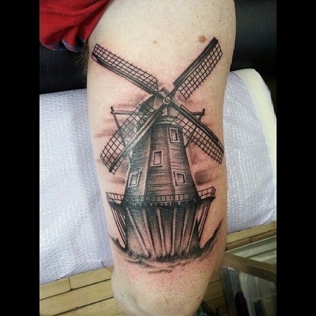 windmill tattoo projects to try pinterest windmill tattoo tattoo and grey tattoo. Black Bedroom Furniture Sets. Home Design Ideas