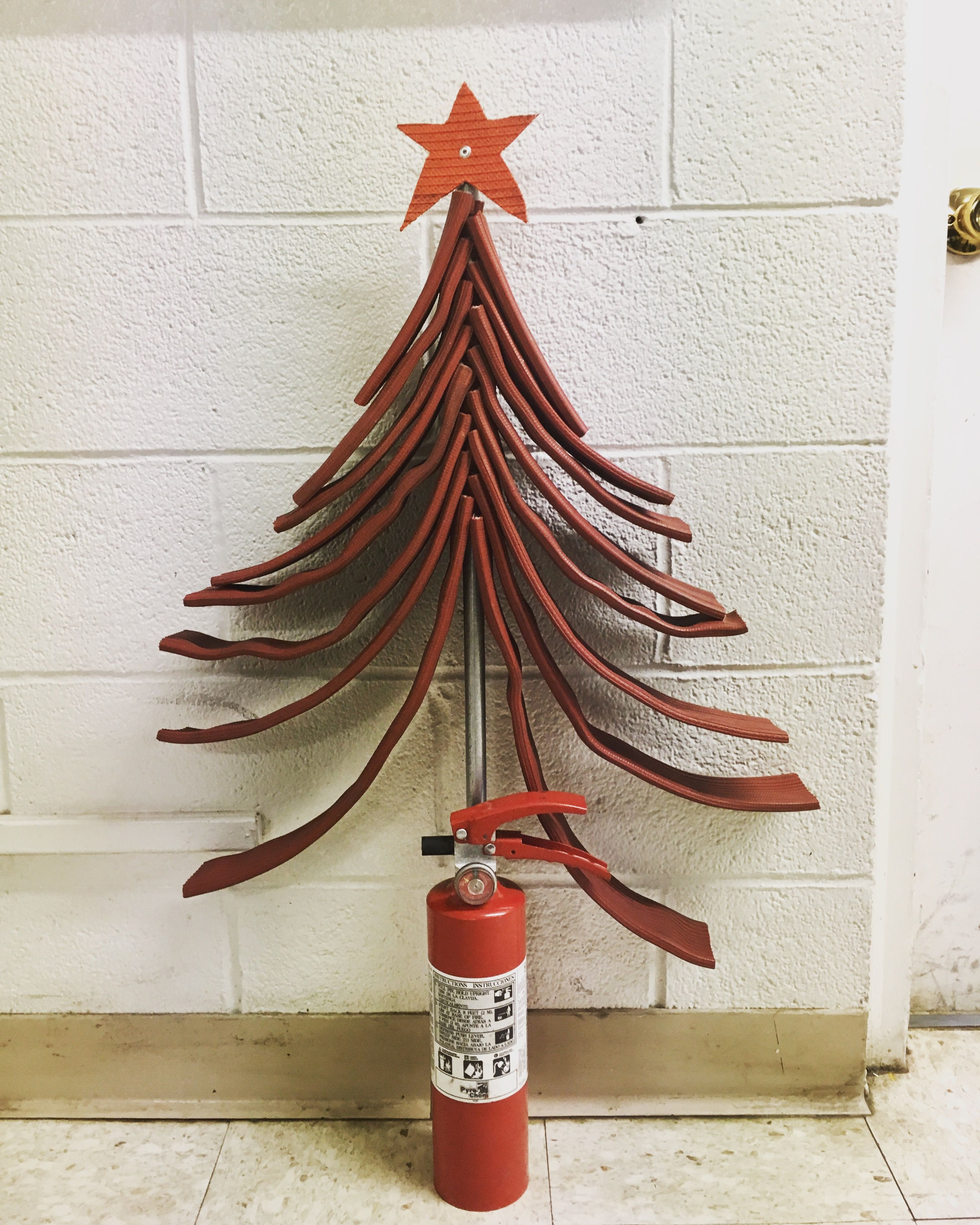 Fire Retardant Spray For Christmas Trees Part - 17: Fire Hose Christmas Tree