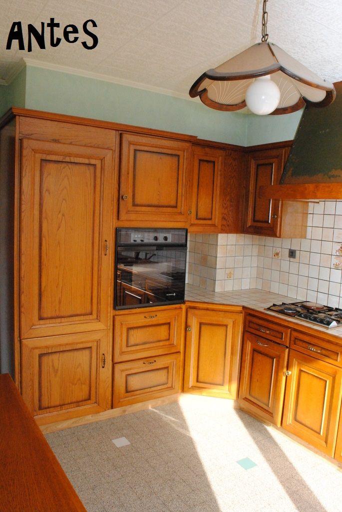 transformación de una cocina solo con pintura3