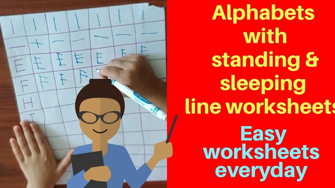 Alphabets Worksheets With Standing Sleeping Line Learn Alphabets Wit Learning The Alphabet Alphabet Worksheets Educational Videos [ 720 x 1280 Pixel ]