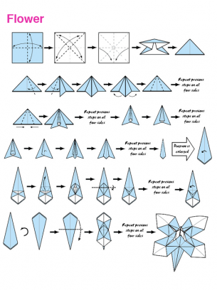 Origami blue flower origami paper making paper folding japanese origami blue flower origami paper making paper folding japanese origami diy craft creative mightylinksfo