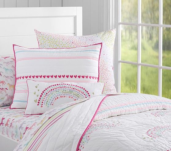 Rainbow Quilt With Images Girl Room Girl Beds Rainbow Bedroom