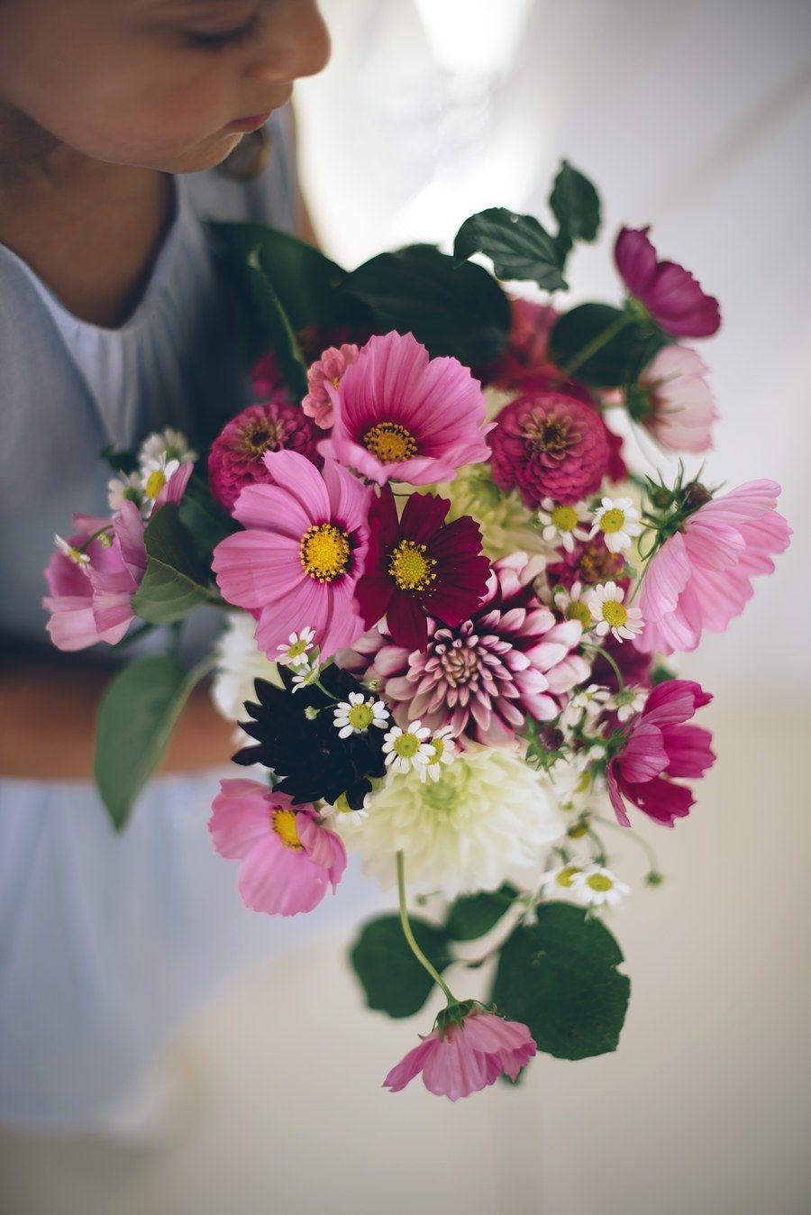bridal Bouquet   seasonal, organic & local flowers   cosmos ...