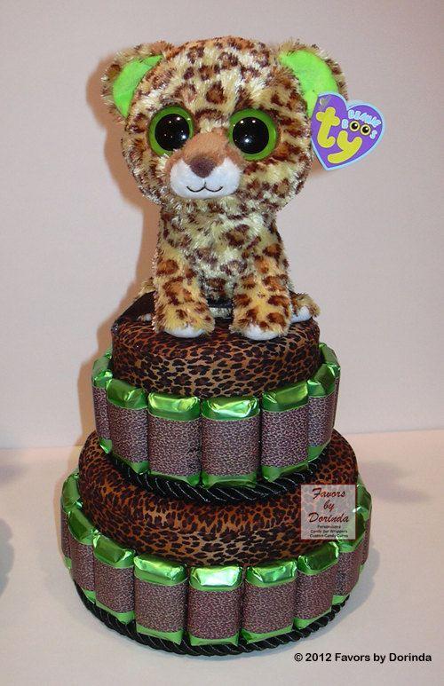 Beanie Boo Leopard Centerpiece idea