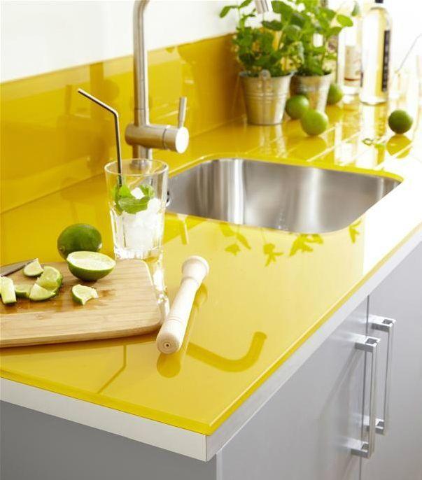 kitchen with yellow laminate countertops - google search | retro
