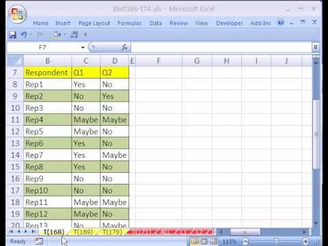 How to Format an Excel Spreadsheet - survey forms in excel