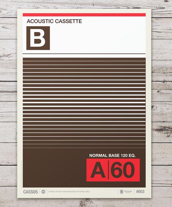 cassette labels by neil stevens 7 Cassette Label Prints by Neil Stevens