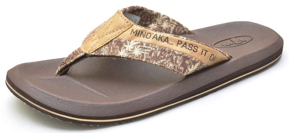 a5703d7ef393 Sanuk SLACKER HAWAII Tan Thongs Sandals Flip Flops Shoes Men s - NEW -  SMS1067H  Sanuk  FlipFlops