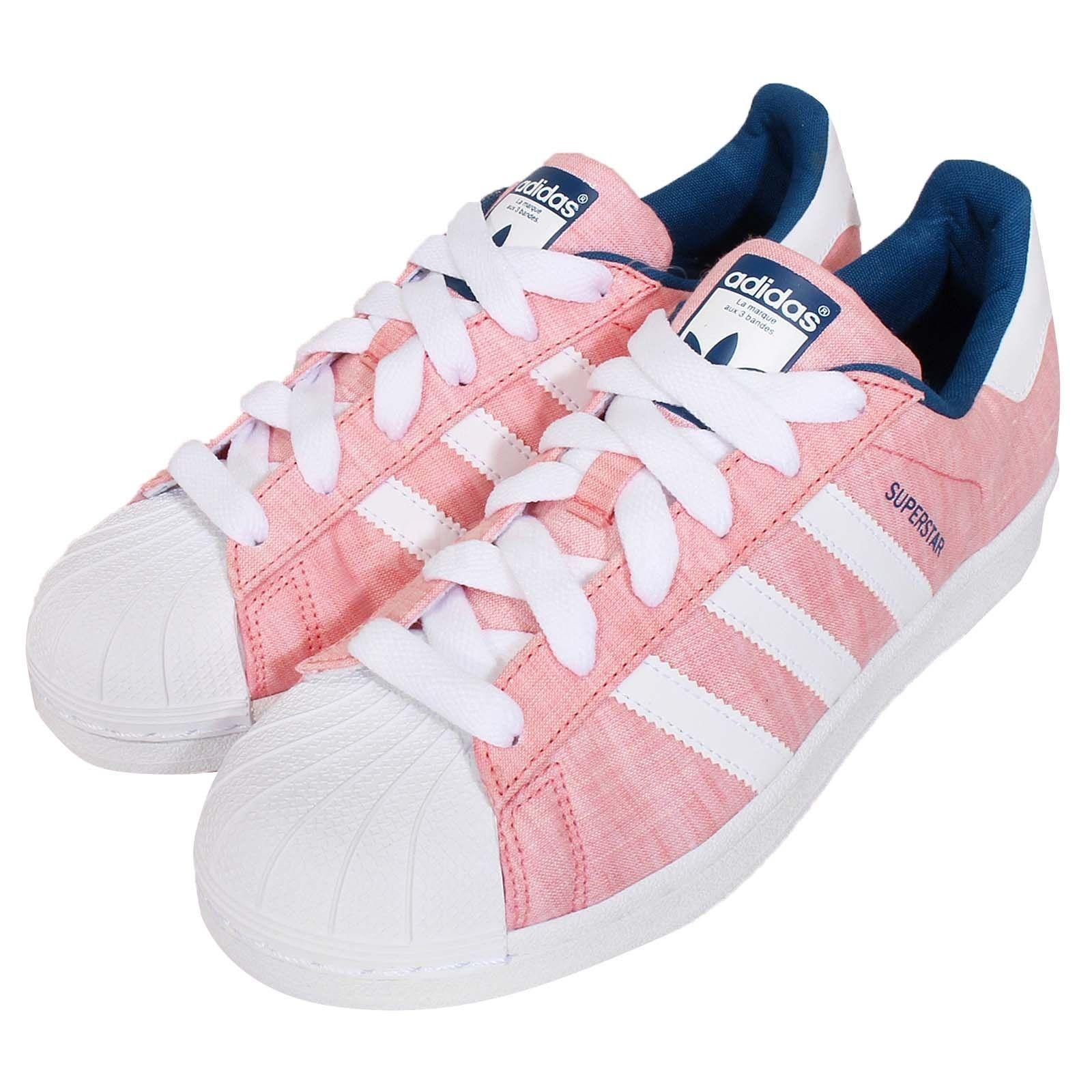 adidas superstar pink and blue