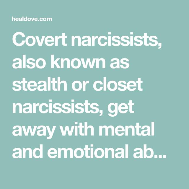 Closet narcissism