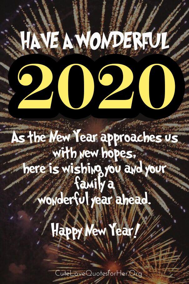 70 Happy New Year 2020 Wishes For Family Members Emotional Wording Nieuwjaar Kaarten