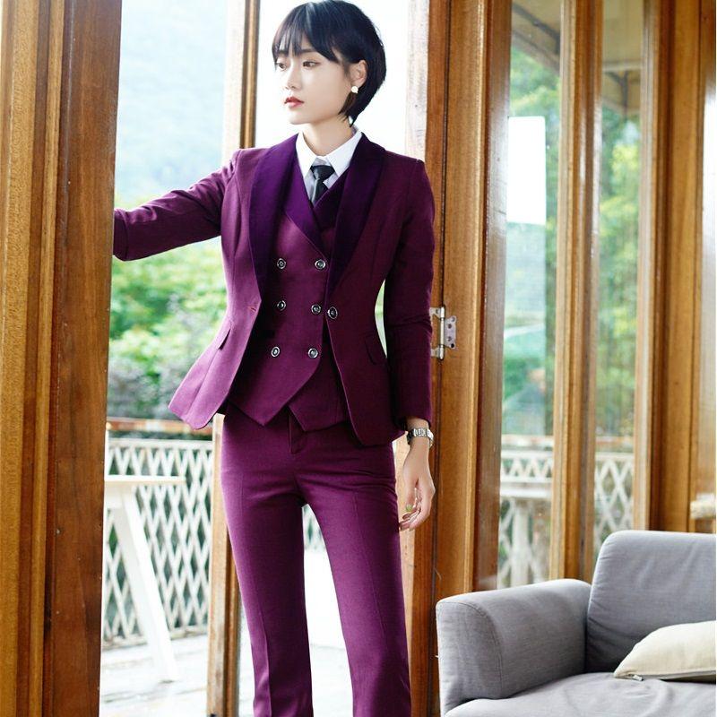 Ladies 3 Piece Pant Suit