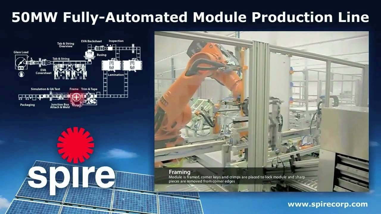 50MW FullyAutomated Module Production Line Production