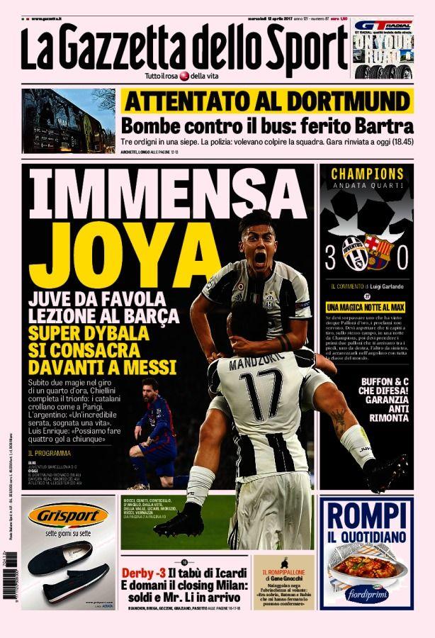 La Gazzetta dello Sport // 13/04/2017 // Sport