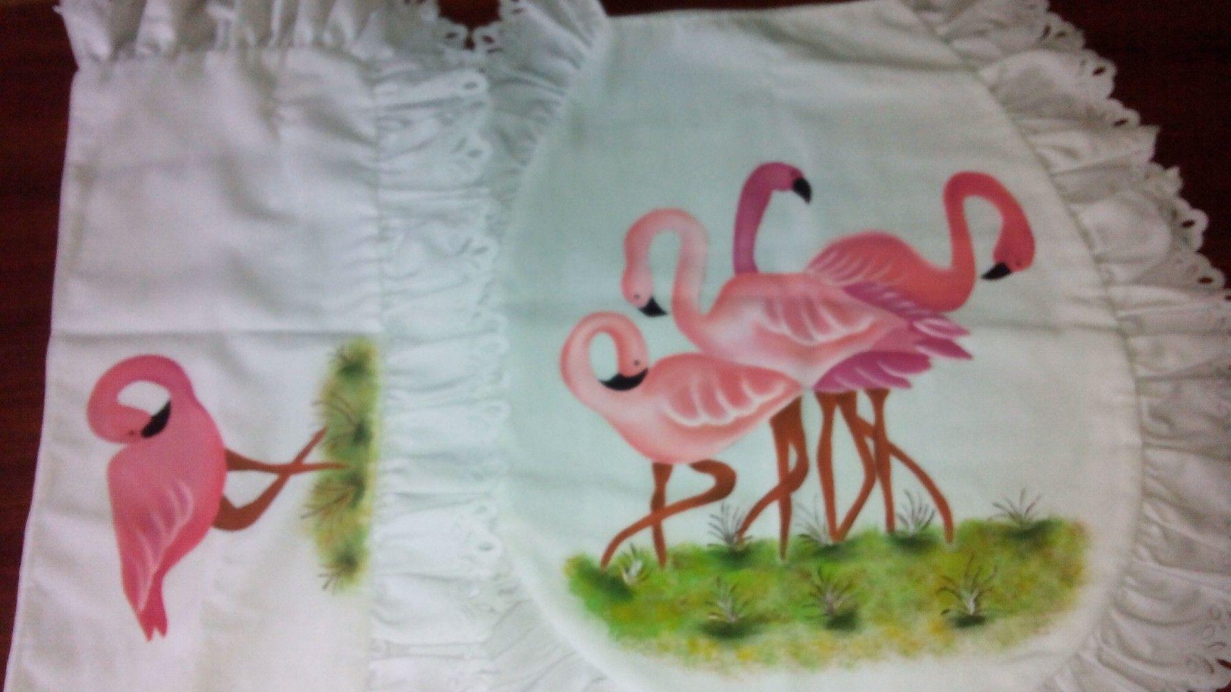 Juego de baño pintado a mano cisnes (con imágenes ...