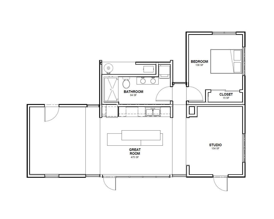 Start Home A 988 Sq Ft 2 Bedroom Entry At Solar Decathlon 2013 Wonderful House Plans