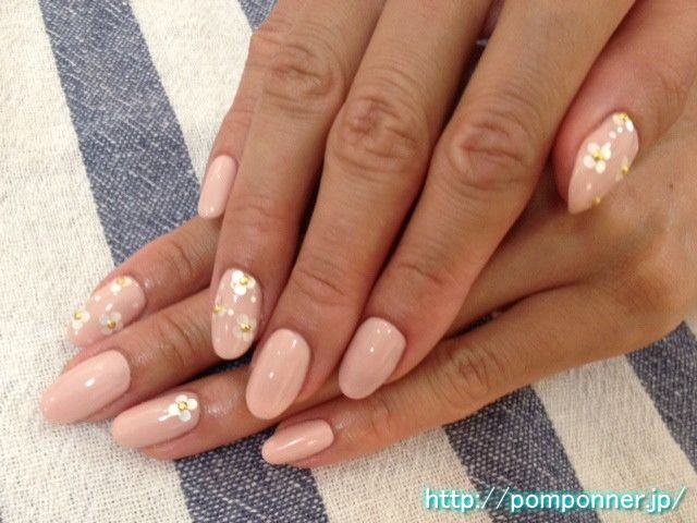 elegant gel nail you have one color painted beige pink | Nails ...