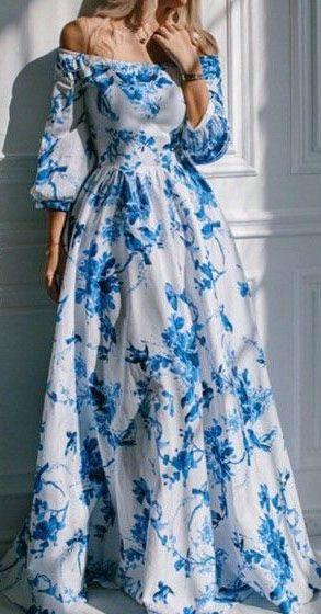 Floral Print Empire Dress