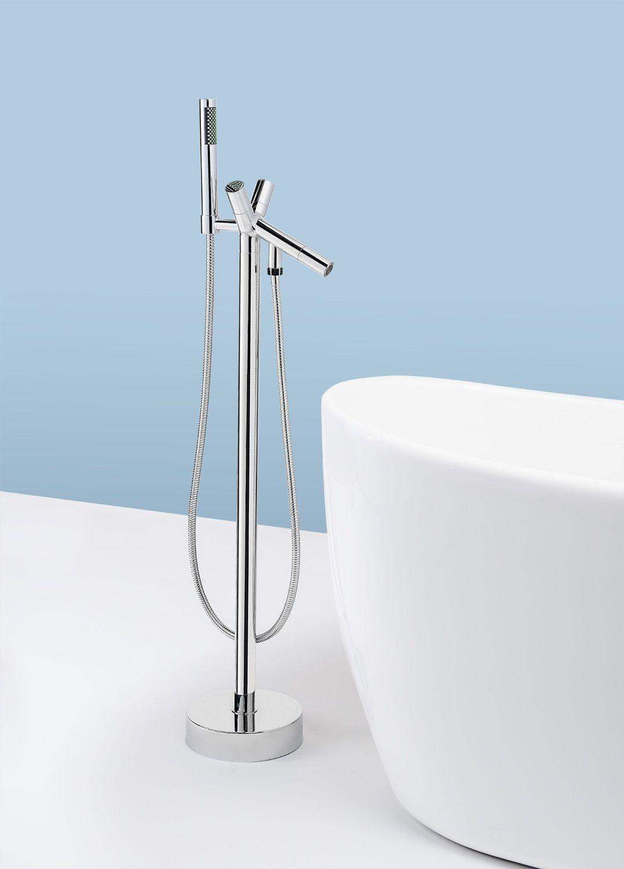 AKDY Freestanding Tub Filler Faucet w/ Handheld Shower ATF8711 ...