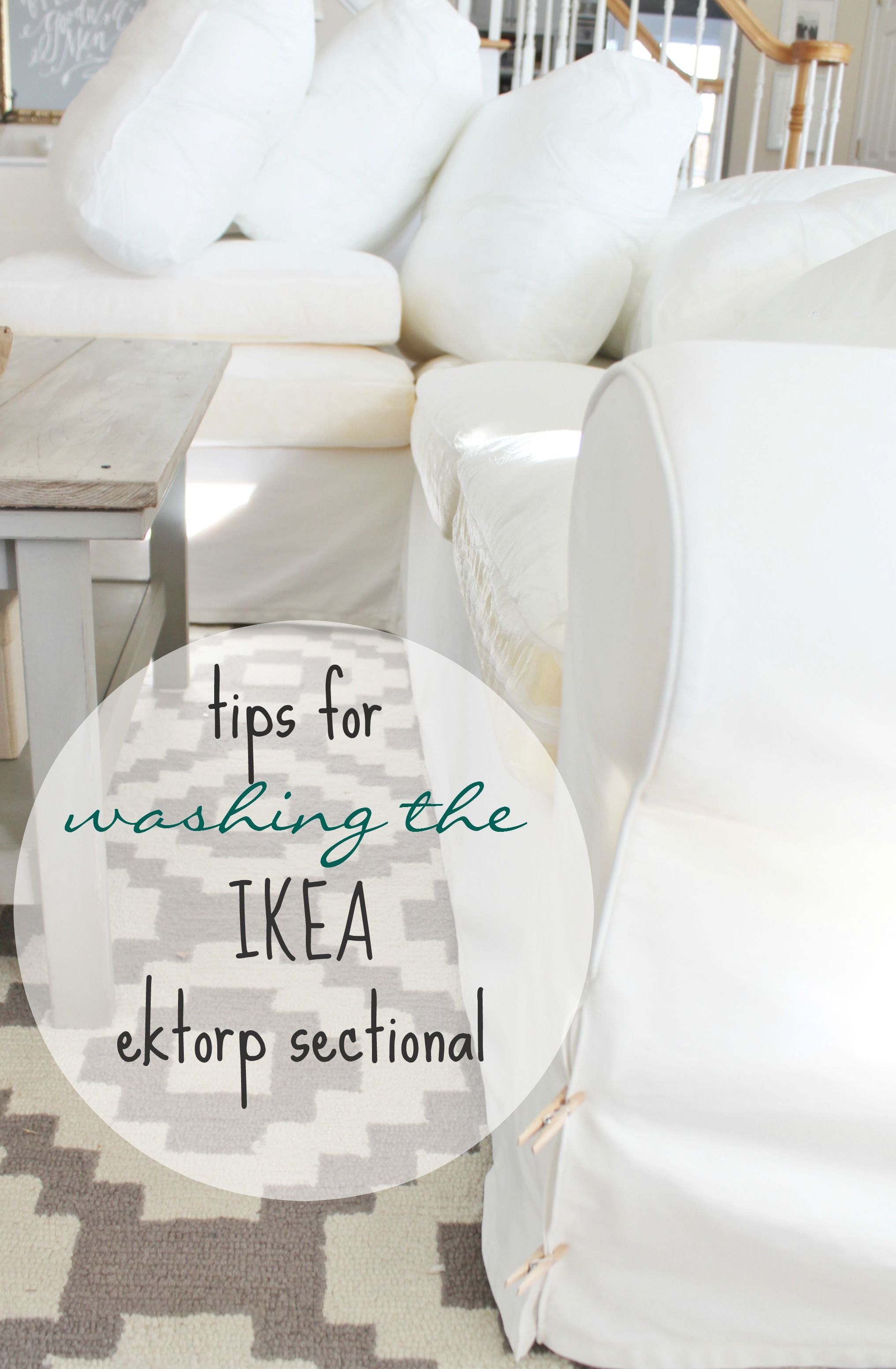 washing ikea chair covers white linen dining room my ektorp slipcover sectional 2 years later