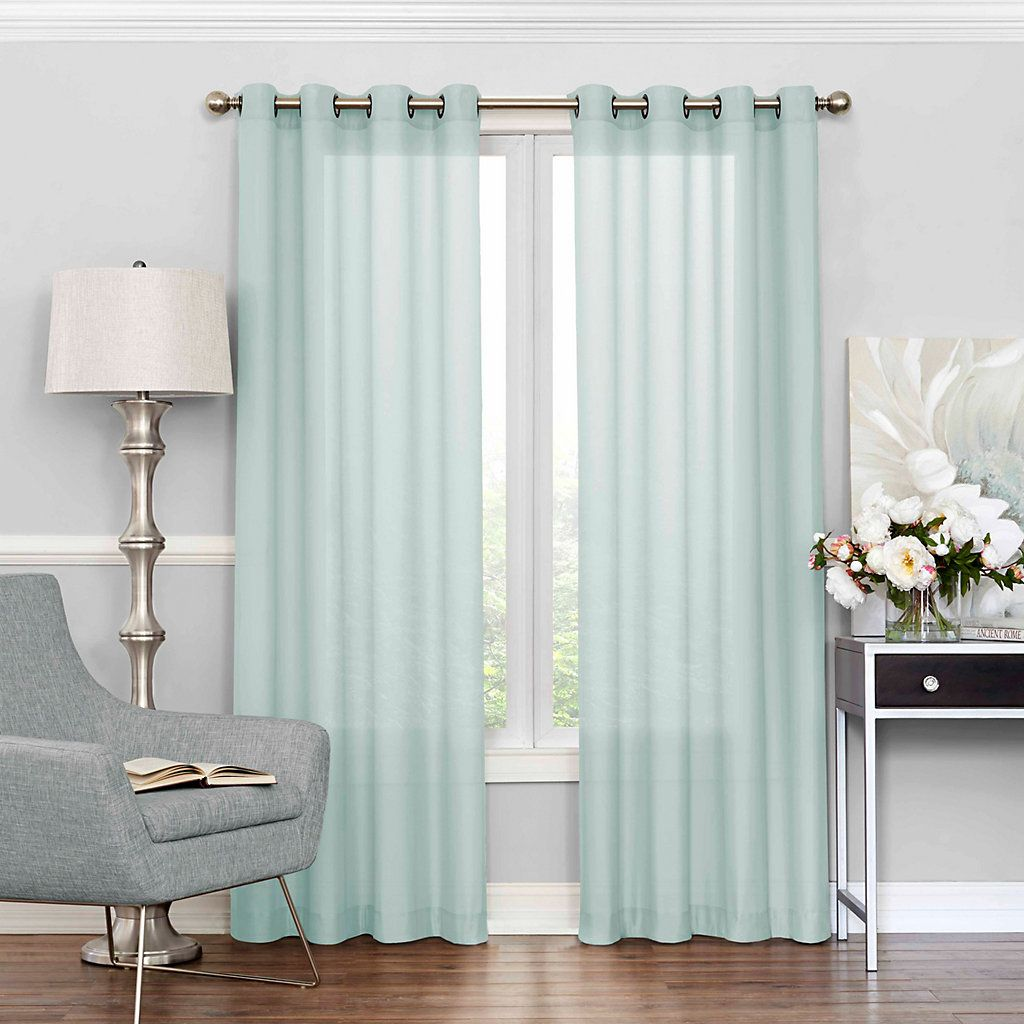 Eclipse Liberty Uv Light Filtering Sheer Window Curtain