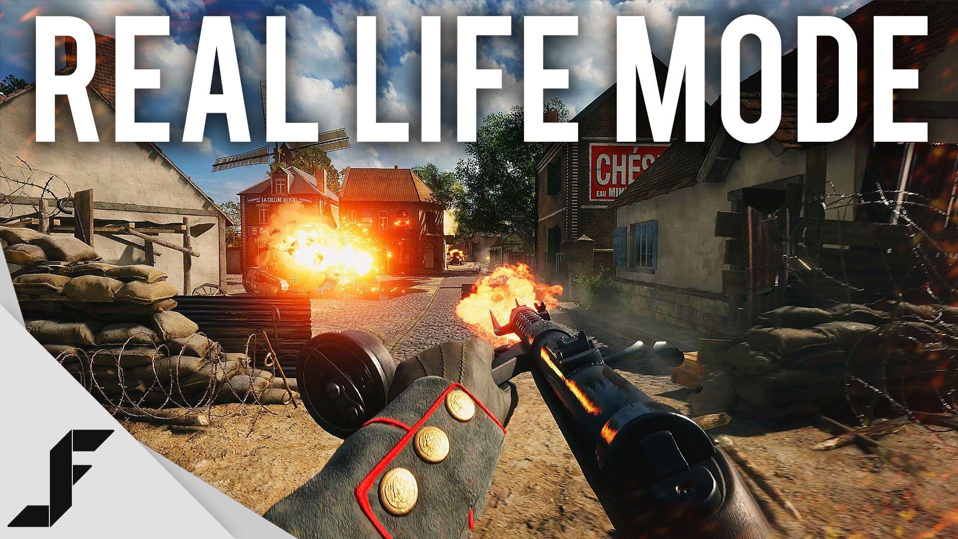 BATTLEFIELD 1 REAL LIFE MODE - 4K 60FPS | Gaming