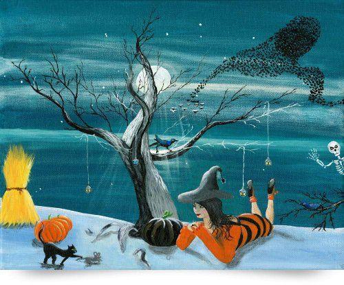 Morganas Halloween (Giclee Art Print), Yvonne Carter Imagekind,http://www.amazon.com/dp/B00GDX9W5C/ref=cm_sw_r_pi_dp_-B8-sb0DJA8ZP96E