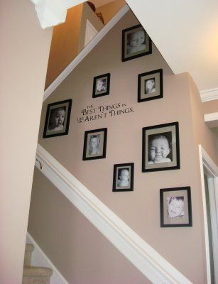 stairway wall decorating on pinterest
