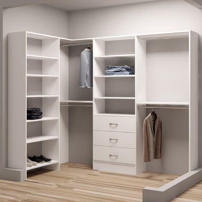 Tidysquares Inc Demure Design 93 W 65 5 W Closet System