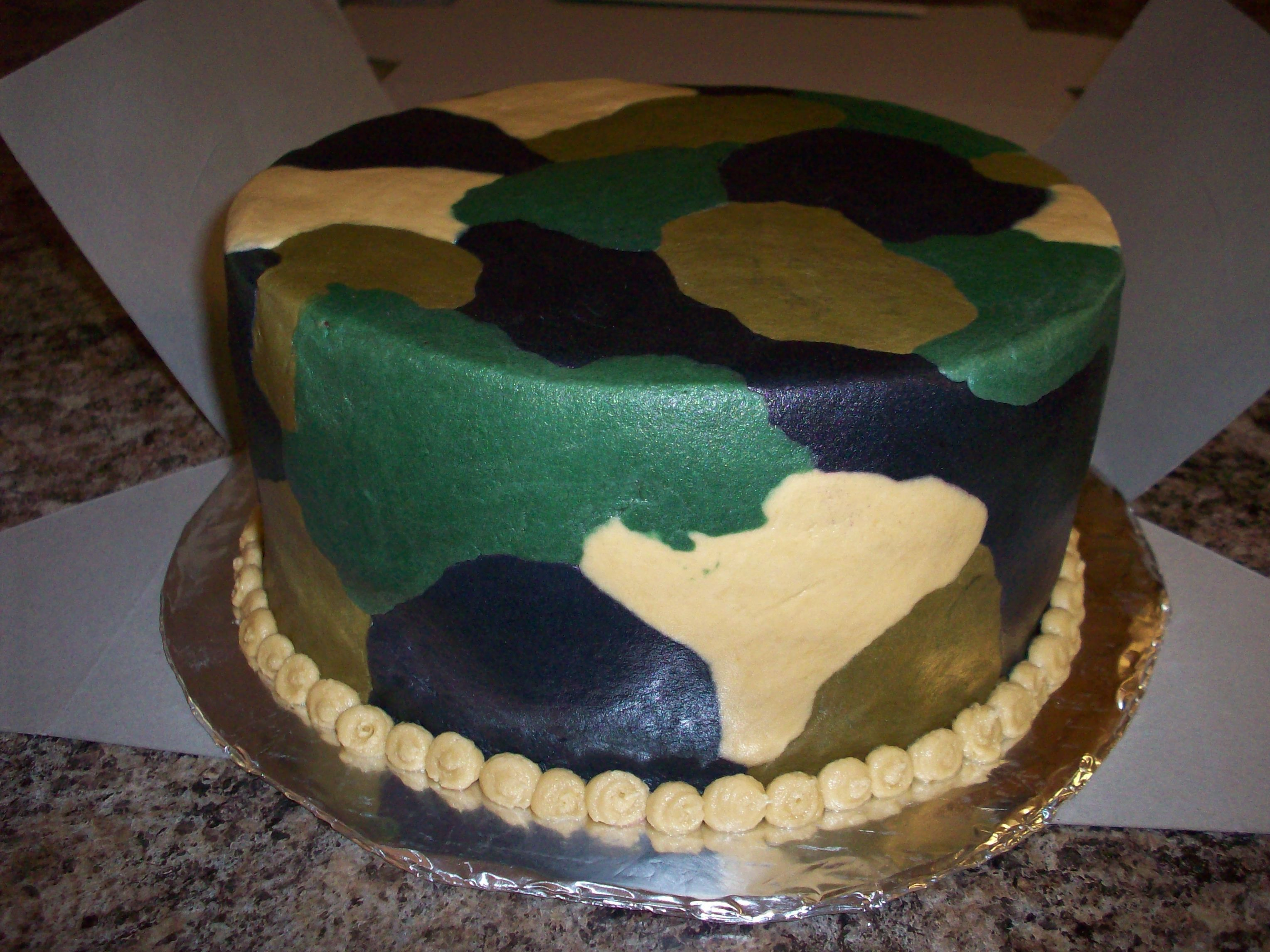 Camo Camoflauge Cake For A Big Hunter His Wife Just Wanted It