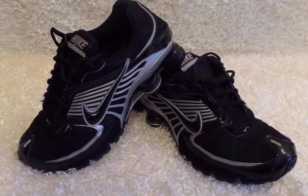 GUC Men's Nike Shox Turbo Running Black Shoes Sz 15 D