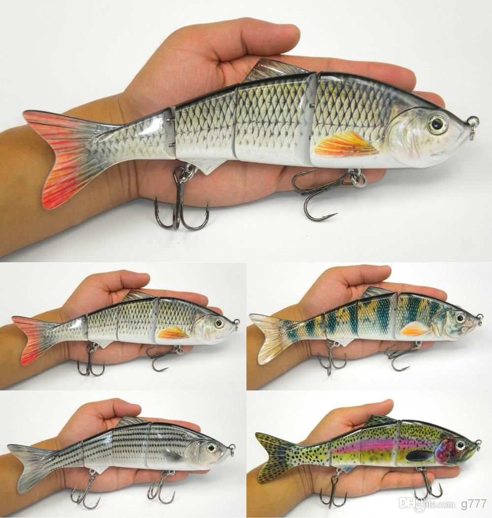 life like swimbait fish lures 10inch 4 segment