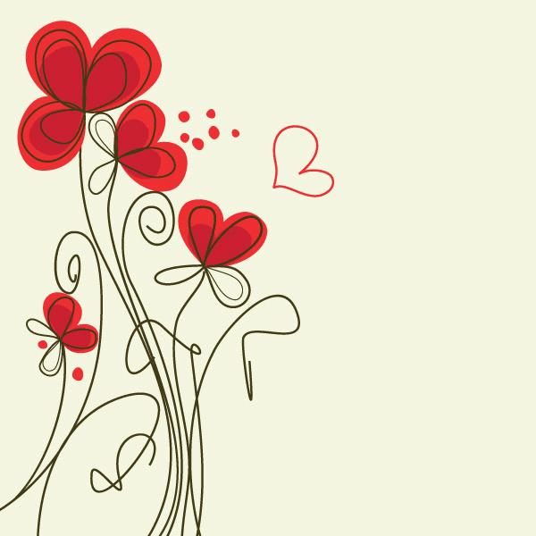 tarjetas con flores rojas  Carrito  Pinterest