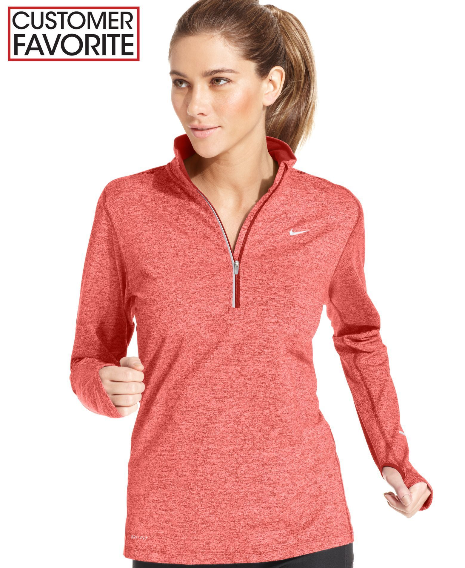 c41f1f4c4a0423 Nike s Element pullover works for your workout! With Dri-fit technology and  reflective piping