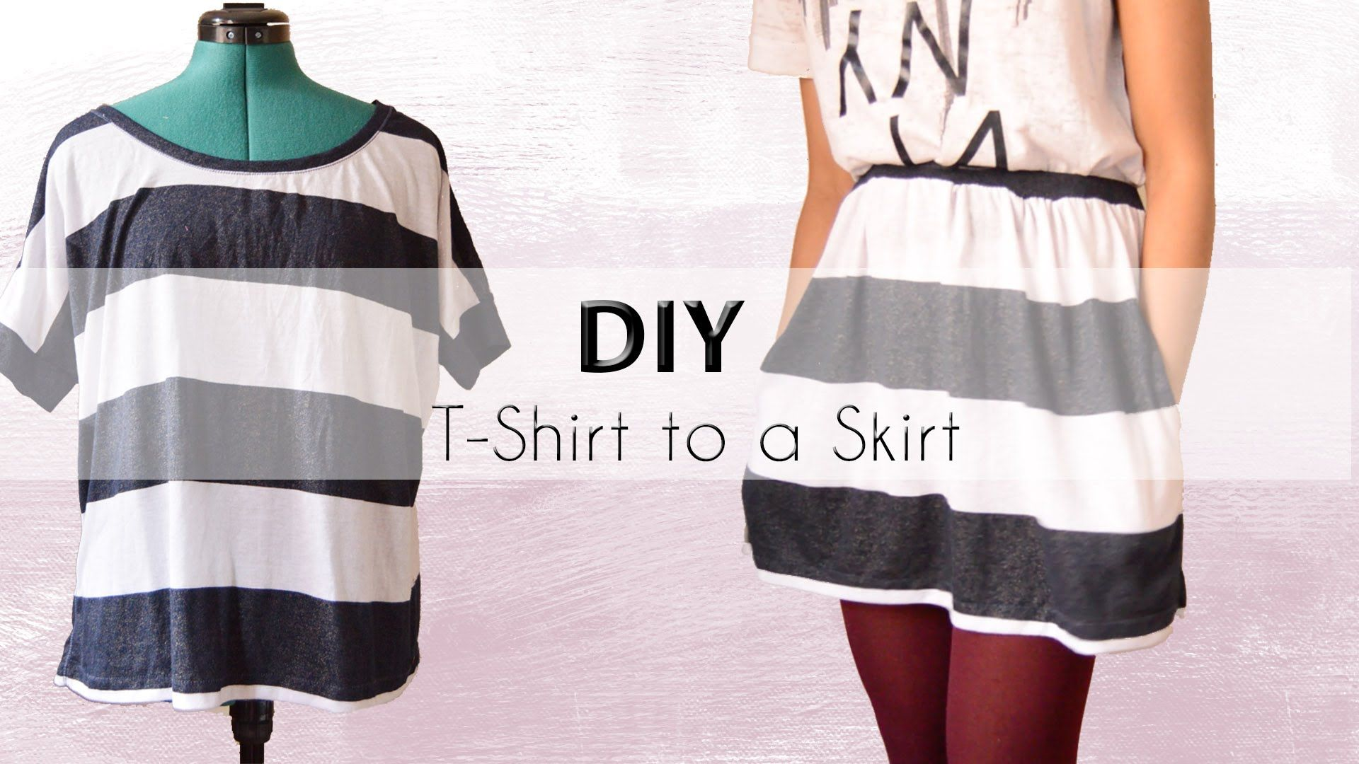 Diy Transformation Shirt Into A Skirt With Pockets Diy Skirt How To Make Skirt Diy Clothes Alterations