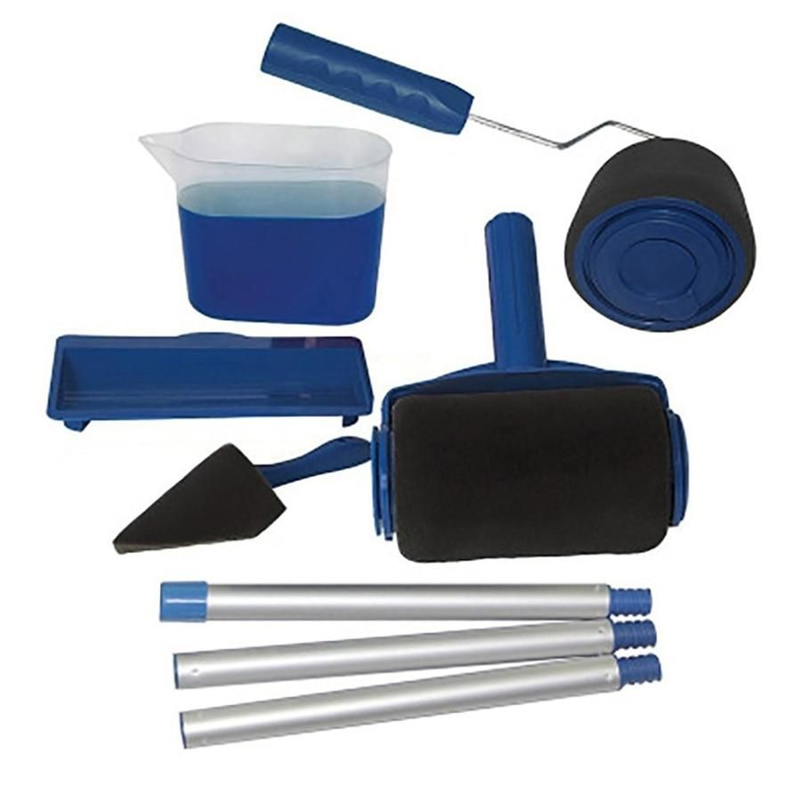 8 Pcs Set Paint Roller Set With Sticks Paint Roller Pro Decorate Runne Rosamiss In 2020 With Images Paint Roller Paint Runner Roller Brush
