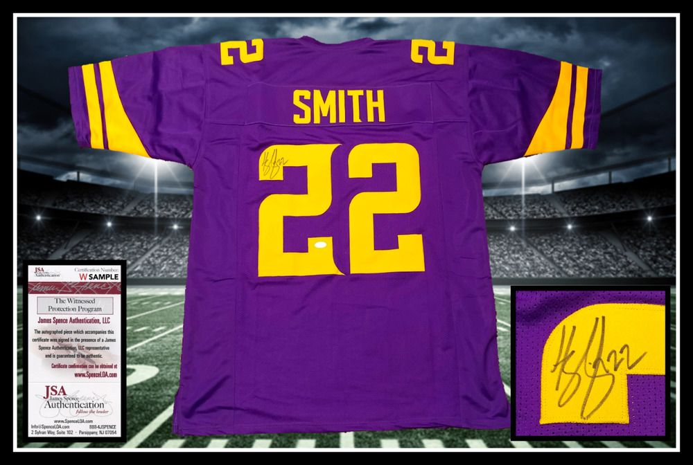 ... official harrison smith autographed signed vikings color rush jersey jsa  coa 1804f ad49b ... bfcc61d3b
